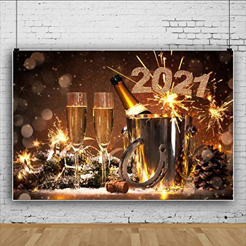 DORCEV 12x10ft 2021 Happy New Year Photography Backdrop I Hope You Will Have a Great Year Background All Kinds of Light Color Flowers Traditional Spring Festival Party Photo Studio Props