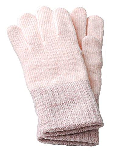 メールすずめ昆虫イチーナ【裏起毛セミロングラメ手袋 】3Dニット 日本製 吸湿発熱素材(レディース?フリーサイズ)