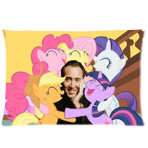 Trendsetter Nicolas Cage My Little Pony - Funda de almohada ...