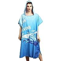 Handtuch Poncho Mikrofaser Andern Sie Robe,Surfen Wechseln Handtuch Robe mit Kapuze,Schwimmen Schnorchel Strand Poncho