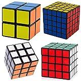 Dayan B00DBZQZ820810 Shengshou Speed Cube Collection, Black Puzzle Bundle Pack, 2x2x2, 3x3x3, 4x4x4, 5x5x5 Set