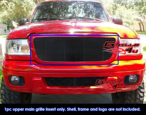 APS Compatible with 2004-2005 Ford Ranger All Model Black Billet Grille Grill Insert F85237H