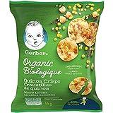 GERBER Organic Quinoa Crisps Mixed Lentils, Toddler Food, Snack, 12+ Months, 55 g, 6 Pack