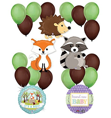 Woodland Critters Creatures Baby Boy Baby Shower Party