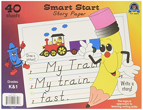 Smart Start Story Tablet - Teacher Created Resources Smart Start K-1 Story Paper: 40 Sheet Tablet (76510)