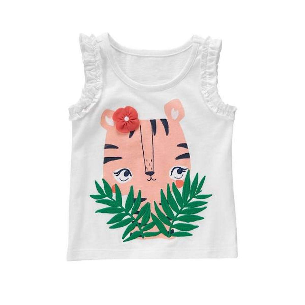 Gymboree Baby Girl White Tiger Tank Top//Tee 12-18 Months