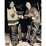 Signed Johnny Bower, Gump Worsley Photo, Toronto Maple Leafs, Montreal Canadiens