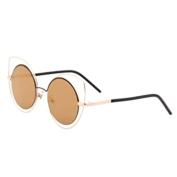 Eizur Ojo de Gato Gafas de Sol Vintage Redondas Gafas de Sol ...