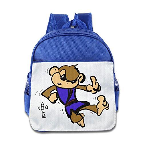 KIDDOS Infant Toddler Kids Cartoon Wook Fall Down Backpack Satchel School Book Bag, RoyalBlue (Baby Godzilla Costume)
