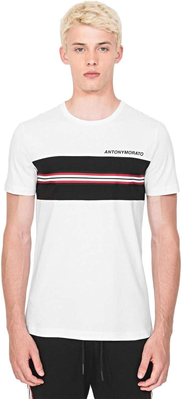 Antony Morato Camiseta Blanca Regular Fit con Logo De Goma ...
