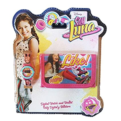 Factory 31143 Set Reloj Digital y Billetera, diseño Soy Luna