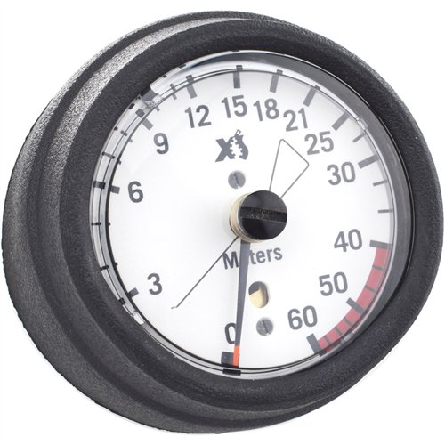 XS Scuba Hose Mount Metric Depth Gauge