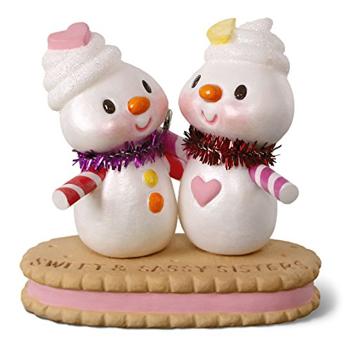 Hallmark Keepsake Christmas Ornament 2018 Year Dated, Sweet & Sassy Sisters