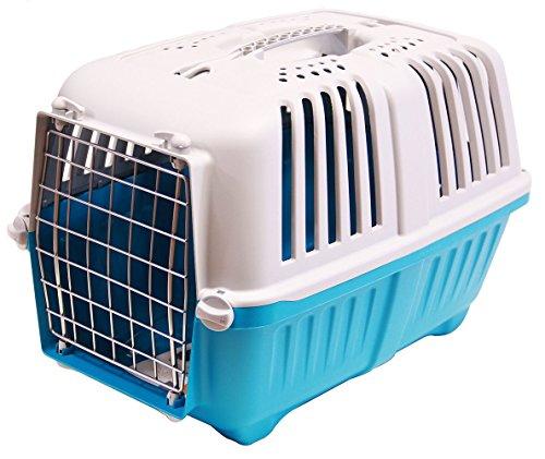 BPS (R) Transportín Rígido para Perro o Gato, Animales Domésticos, Tamaño: 55 x 36 x 36 cm. (Azul)