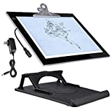 Yescom A4 LED Tracing Light Box with Stand 13''x9'' Active Area Stencil Board Tattoo Drawing Table Display Pad 14''x11''