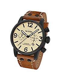 TW Steel Men's MS43 TW Steel Maverick Analog Display Quartz Brown Watch