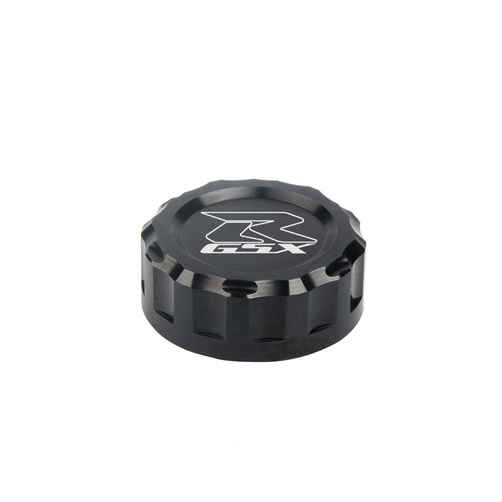 CNC Aluminum Oil Cover Rear Brake Fluid Reservoir Cap For SUZUKI GSXR600 2011 2012 2013 2014 GSXR1000 2009 2010 2011 2012 2013 2014 2015 2016(BLACK)