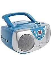 Curtis SRCD243M-BLUE Sylvania SRCD243 Portable CD Player with AM/FM Radio, Boombox (Blue)