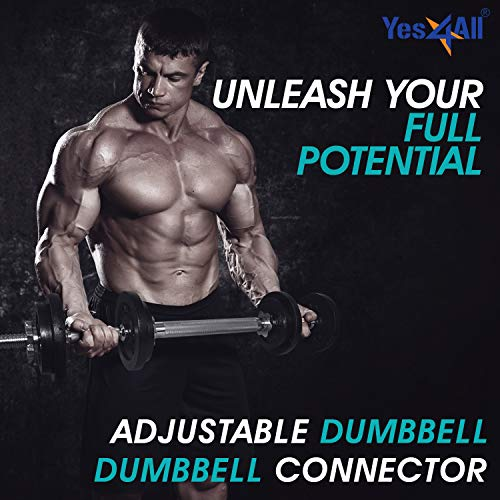 Yes4All Adjustable Dumbbell Set with Dumbbell Connector – 40 lbs Dumbbell Weights (Pair) by Yes4All (Image #4)