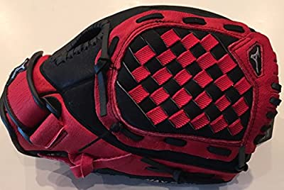 "Mizuno Prospect GPP1100Y1 11"" Youth Utility Baseball Glove - Black & Red - Recommended Ages 7-8 Years Old"