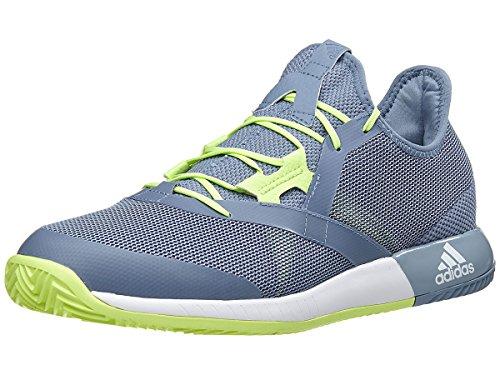 Adidas Mens Adizero Defiant Bounce Tennis Shoe  Raw Grey White Semi Frozen Yellow  9 5 M Us