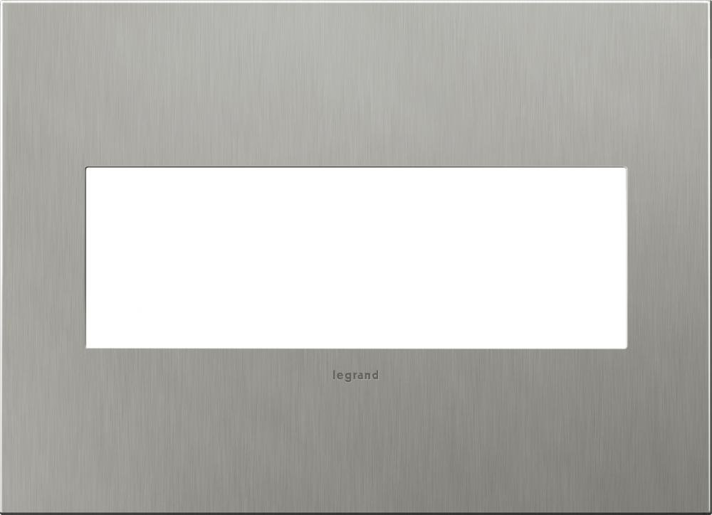 Legrand (AWC3GBS4) adorne Brushed Stainless Steel 3-Gang Wall Plate