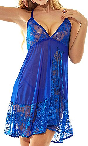 Adorejoy Womens Babydoll Lingerie Set Plus Size Sleepwear