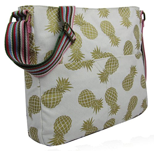 Tote Kukubird Handle Pineapple Top Animal Pineapple Crossbody Anchor Various Umbrella Shoulder And Handbag White Bag Design WrxB8ArwqC