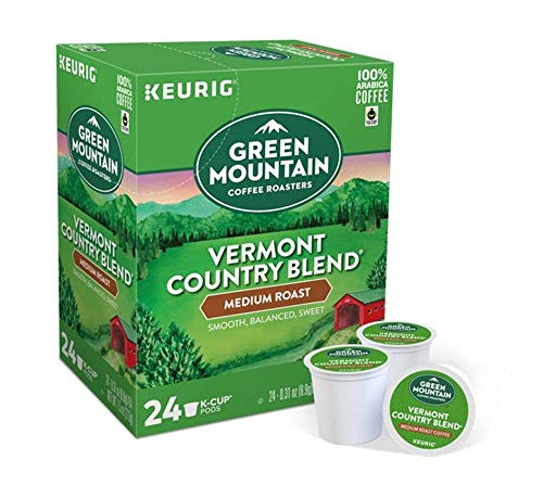 Keurig Coffee Pods K-Cups 16/18 / 22/24 Count Capsules ALL BRANDS/FLAVORS (24 Pods Green Mountain - Vermont Country Blend)