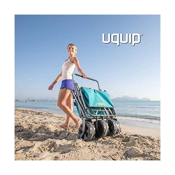 Uquip Beach Buddy - Carrello da Spiaggia Pieghevole con capacità Fino a 100 kg 7 spesavip