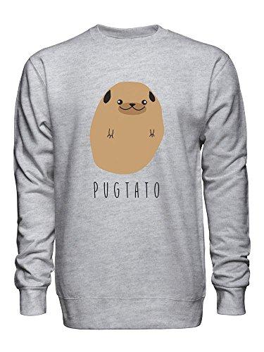 Pugtato - Half Pug, Half Potato Unisex Crew Neck Sweatshirt