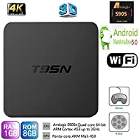 HONGYU Latest Version T95N Mini Android TV BOX 1G/ 8G Amlogic S905X Quad-core cortex-A53 Android 6.0 Support 2.4GHZ Wifi Streaming Media Player