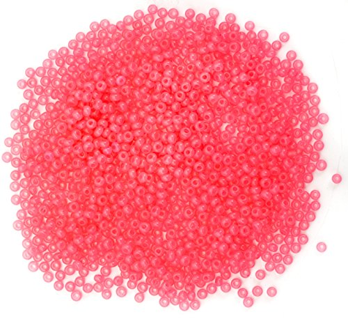 Size 11 Pink Coral Czech Glass Seed Beads
