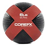 COREFX Medicine Ball: Dual Surface Textured for Maximum Grip and Control During Mobility, Stability and Strength Training – 6, 8, 10, 12, 15, 20 lbs