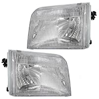 Driver and Passenger Headlights Headlamps Replacement for Ford Pickup Truck F37Z13008B F37Z13008A