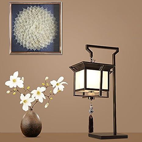 ... decorativas lámparas chino antiguo salón minimalista moderno hotel el estudio dormitorio lámpara de mesilla lámpara de mesa 50*42*80cm+ bombillas LED ...