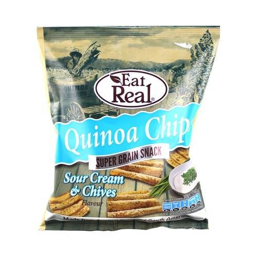 Eat Real Quinoa Sour Cream Chive Chips 30g by Eat Real
