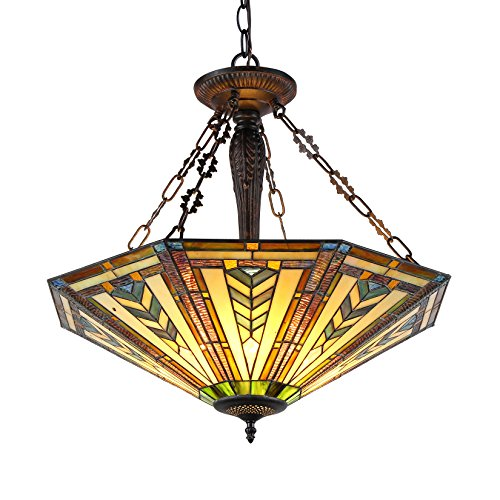 (Chloe Lighting CH36321GM25-UH3 Harrison Inverted Ceiling Pendant Fixture with 25