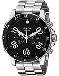 Nixon Mens A549000-00 Ranger Chrono Analog Display Quartz Silver Watch