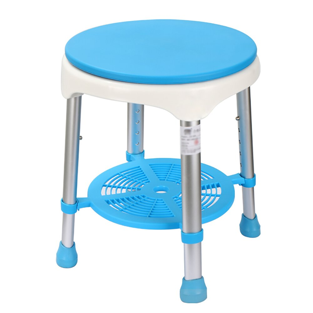 Shower Chair Aluminum Bathroom Shower Rotating Stool Elderly Safety ...
