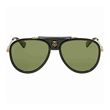 0672501fb14 Amazon.com  Sunglasses Gucci GG 0062 S- 014 GOLD GREEN  Clothing