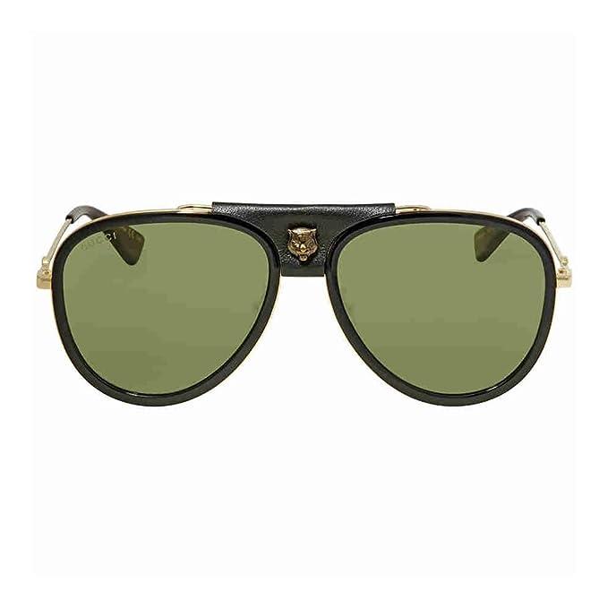 d2a7f00cbc9 Sunglasses Gucci Gg 0062 S- 014 Gold Green  Amazon.ca  Clothing ...