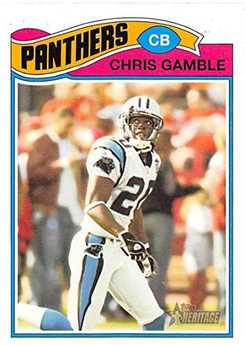 (2005 Topps Heritage Football #168 Chris Gamble Carolina Panthers)