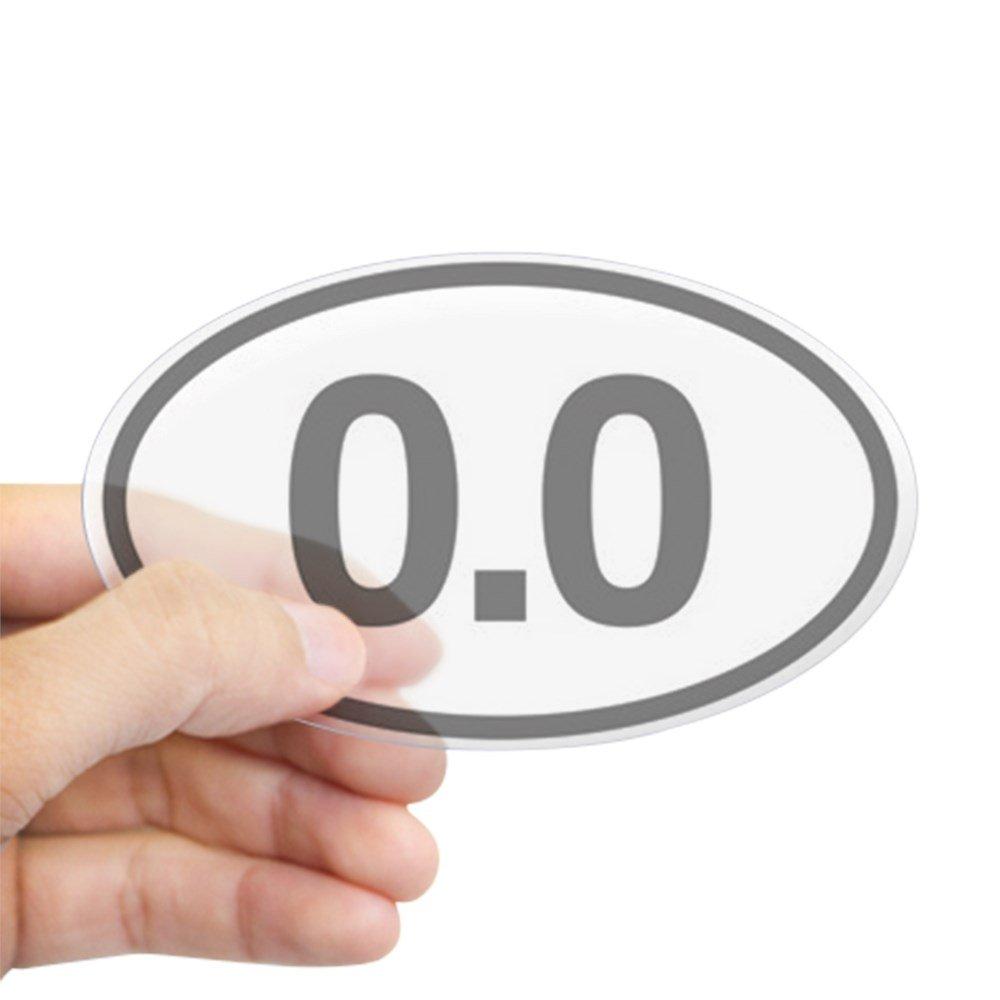 Amazon com cafepress 0 0 mile marker oval bumper sticker euro oval car decal home kitchen