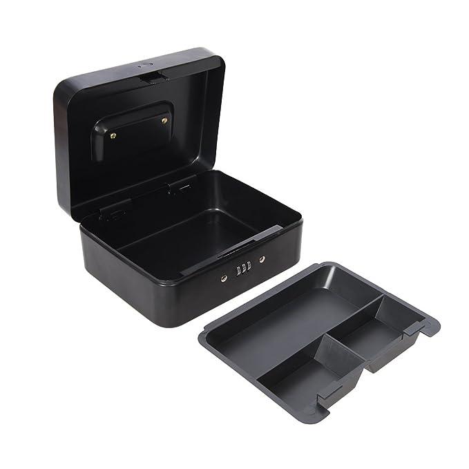 Silverline 732370 Caja de Seguridad con combinación de 3 dígitos, Negro: Amazon.es: Bricolaje y herramientas