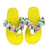 women slippers flower beach low flop slides shoe seaside cool sexy outdoor slipper