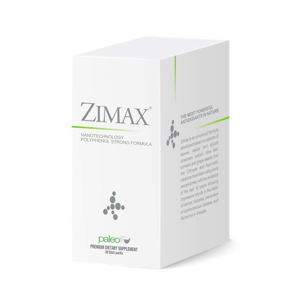 Zimax Super Antioxidant 100% Natural High Absorption Curcumin, Rosemary Extract, Grape Seed Extract, Olive Leaf Extract ORAC 3,451,770 (Sachet)