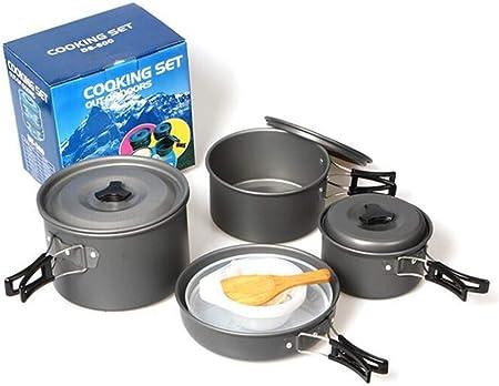 GYK Boutique Utensilios de Cocina de Camping,4-5 Personas Set Pot Pot Set Set Outdoor Camping Pot Pot Outdoor multifunción Set Set Pot