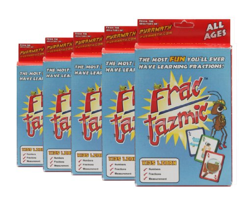 Card Game Learning Fractions - American Educational Fractazmic Fractions Card Game (5 Piece Set)