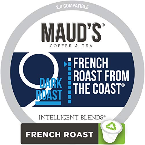 - Maud's French Roast Coffee, (French Roast from The Coast), 100ct. Recyclable Single Serve Coffee Pods - Richly satisfying arabica beans California Roasted, k-cup compatible including 2.0